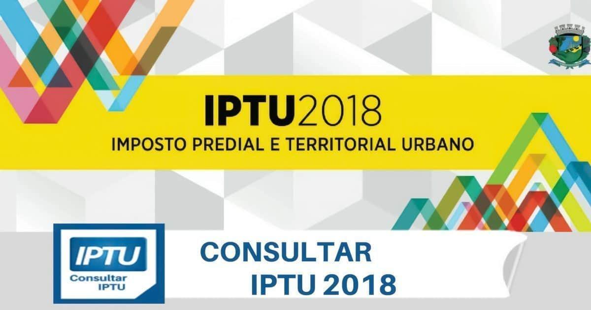 Consultar IPTU 2018